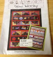 "Sew Wonky Quilt Pattern Designed by Carol Morissey 63""x7-1/2"" Uncut"