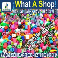 Hama Beads MIDI Granel 800 Piezas aprox Más 10 Colores 800 Tubes More 10 Colours