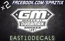 Duramax shakes it vinyl bumper sticker decal windshield banner diesel 2500