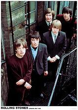 Rolling Stones - Color group Retro Poster Size 84.1cm x 59.4cm - 34''x 24''