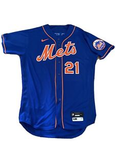 Todd Frazier 2020 New York Mets Game Issued Home Blue Baseball Jersey - MLB Holo