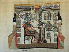 """NEW HAND PAINTED EGYPTIAN PAINTING ON PAPYRUS 12""""x16"""" A50"""