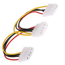 4 PIN IDE Molex Power Supply Y 2 Way Cable Splitter Extension Lead. 050