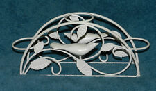 PRETTY WHITE METAL BIRD CANDLE HOLDER! PRIMITIVE SHABBY!!