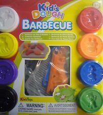 Kids Play Pâte à mouler Barbecue BBQ Modélisation Set 8 pots, cutters & Ustensiles