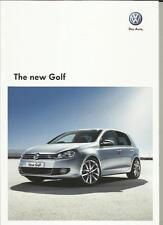 VW GOLF S 1.4, S 1.6, S/SE 1.4, GT 1.4, S/SE 2.0TDI, SE/GT 2.0TDI BROCHURE 2009