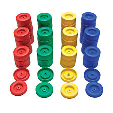 50mm Plastic Push Fit Wheels 100pc Assotrted Colours  Crafts Models Robots Motor