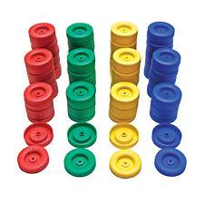 50mm Plastic Push Fit Wheels 100pc Assotrted Colours  Crafts Models Robots Motor