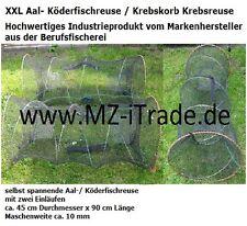 XXL 90x45 cm Aalreuse Köderfischreuse Krebskorb  Krebsreuse Reuse Masche ca.10mm