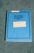 Mattison 72C 100C Rotary Grinder Operating Manual