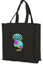 Owl Cotton Shopping Bag, Girl Owl, Choice of Colours