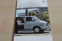 132942) VW Bus T4 Caravelle - technische Daten & Ausstattungen - Prospekt 04/200