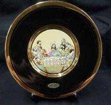 L'Ultima Cena Jesus Last Supper 24KT Gold Gilding Display Plate Decore New Gift