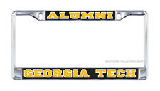 "GT GEORGIA TECH Yellow Jackets Chrome ""ALUMNI""  License Plate / Car Tag Frame"