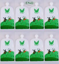Uber Natura Reusable Food Pouches Squeeze Pouches Baby Food Pouch 7 oz - 8 Pack