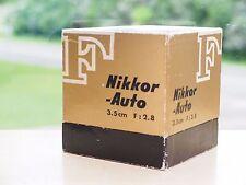 Nikon 3.5cm f2.8 Non-AI in the box!  35mm Nikkor-S Auto