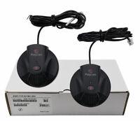 Polycom Soundstation 2 EX Expansion Microphones Mics (2200-16155-001) Brand New