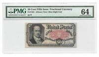 50 CENTS FRACTIONAL CURRENCY, FIFTH ISSUE, PMG CHOICE UNCIRCULATED 64, FR-1381
