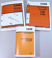 Case 1700 1737 1740 Uni Loader Skid Steer Service Parts Operators Manual Catalog