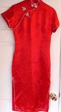 Women's Lotus Chinese dress sz8 red