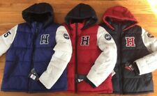 Tommy Hilfiger Mens Varsity Hooded Puffer Jacket XXL New