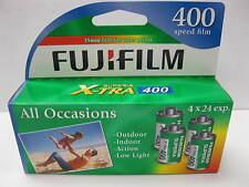 4 Roll Box Fuji Fujifilm Superia X-TRA 400 24 Exp Color Print 35mm 08/2017