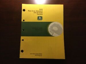 John Deere 3020 Row Crop Standard and Hi Crop Tractor Operator's Manual