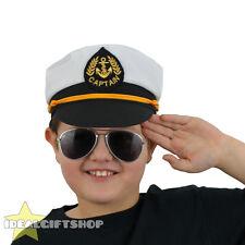 CHILDREN'S SAILOR HAT FANCY DRESS SEA CAPTAIN GIRLS BOYS CAP NAVY MARINE CHILD'S