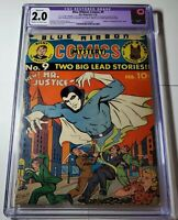 Blue Ribbon Mystery Comics #9 CGC 2.0 Restored 1st Appearance of Mr. Justice