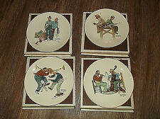 Set of 4 1981 Gorham Norman Rockwell The Four Seasons Collector Plates