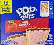 NEW POP TARTS FROSTED CHERRY 27 OZ (768g) BOX 16 TOASTER PASTRIES VALUE PACK BUY
