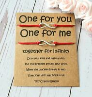 Set Of Two Infinity Wish Bracelet Friendship Best Friend Matching Bracelets Gift