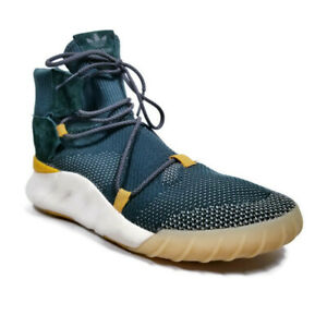 Adidas Tubular X 2.0 Primeknit Mens Sz 10 Green High Top Athletic Training Shoes