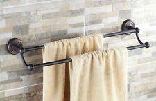 Bathroom Accessory Wall Mounted Oil Rubbed Bronze Double Towel Bar Rail Rack
