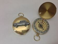 SUNBEAM TALBOT MK3 ref242 PELTRO effetto auto emblema su una bussola d'oro