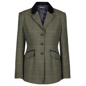 Equetech Ladies Kensworth Tweed Riding Hacking Show Jacket - Lightweight NEW