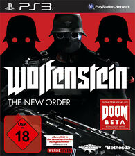 Sony ps3 PlayStation 3 juego *** Wolfenstein: the New Order *** neu*new*18