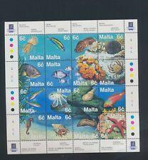 XC77381 Malta fish shell coral sealife XXL sheet MNH