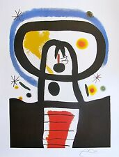 "JOAN MIRO ""EQUINOX"" Signed Limited Edition Large Lithograph Art"