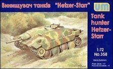 Unimodels — Hetzer-Starr Tank Hunter-Kit di Modello in Plastica Scala 1:72 #358