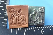 """LEATHER TOOLS/*VTG*RARE*DISCONTINUED*MIDAS 1"""" STAMP  8288  MOOSE"""