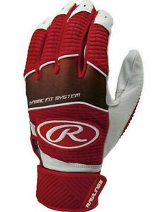 Rawlings Workhouse Adult Batting Gloves Red/White Size Small WH950BG