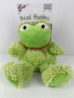"NEW!  Frog Aromatherapy Hot and Cold Plush Cozy Animal Hugs Bead Buddies 11"""