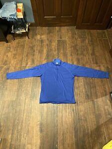 Patagonia Regulator R 1/4 Zip Fleece Blue Polartec Mens Large