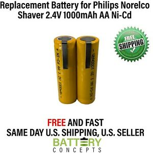 Philips Norelco 4865XL Rechargeable Battery 2.4V 1000mAh AA NiCd Electric Shaver