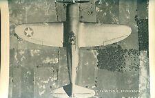 "P47 REPUBLIC THUNDERBOLT vintage WWIIera U.S. Army/Navy plane 5"" x 8"" photo card"
