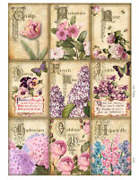 Spring Flowers Glossy Finish Card Toppers - Crafts Embellishment