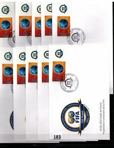 /// FRANCE - 10 FDC - SPORTS - SOCCER - FIFA 2004 - WHOLESALE