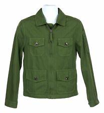 J Crew Mens Four Pocket Utility Jacket Cotton Lightweight Coat XS H6536