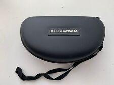 New D&G designer glasses spectacle zip hard case AUTHENTIC Black Unisex 027